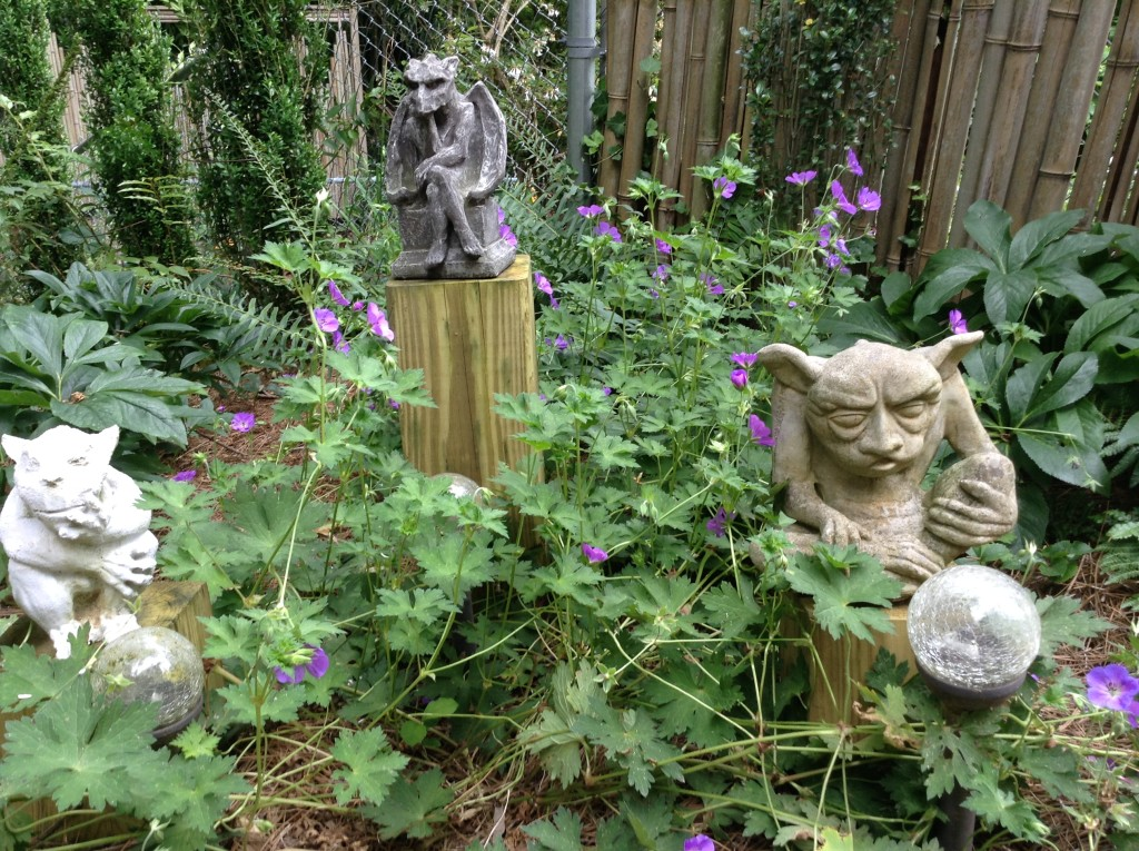 Gargoyles in the garden, A Native Garden, Transplanted and Still Blooming, Cinthia Milner