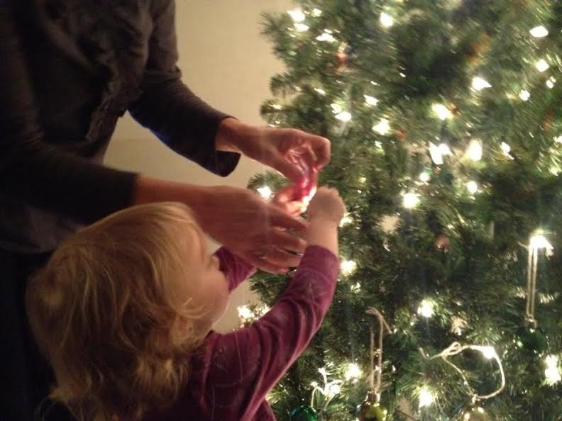 Miss Priss Decorating Her Tree
