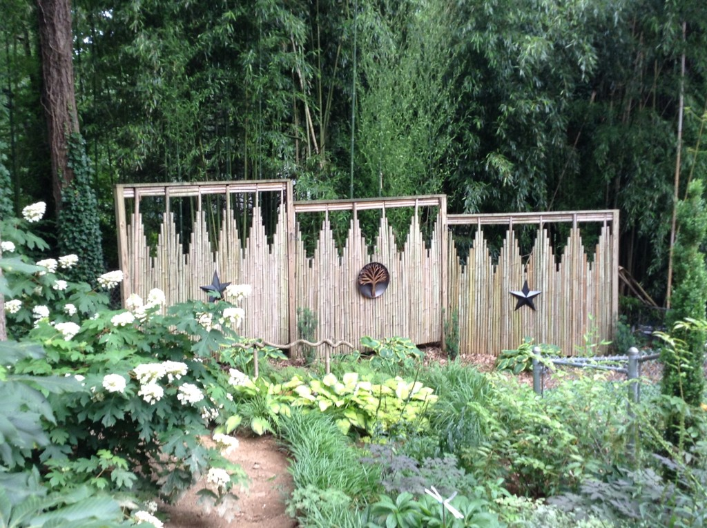 Bamboo screen, A Native Garden, Transplanted and Still Blooming, Cinthia Milner